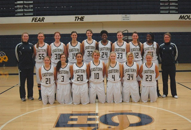 EOU women's basketball team photo